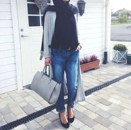 How to wear boyfriend jeans with hijab | | Just Trendy Girls