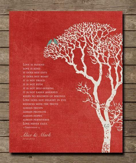 1st Wedding Paper Anniversary Gift Print, 1 Corinthians 13