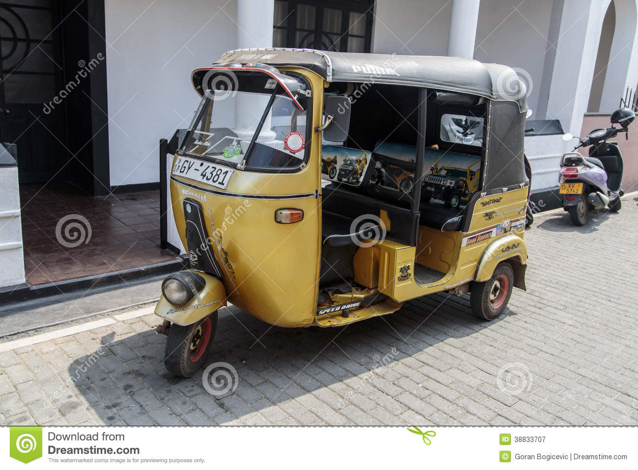 Auto Rickshaw Editorial Photography Image 38833707