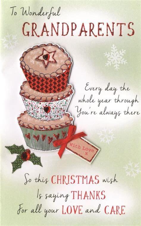 Wonderful Grandparents Embellished Christmas Card   Cards