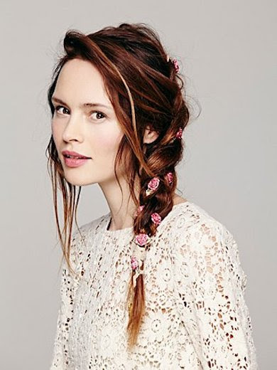 Free People Floral Braid In