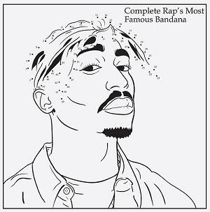 Tupac para colorir e ligar os pontos é uma das atrações do site (Foto: Reprodução)