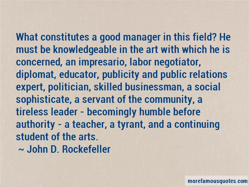 Good Manager Quotes Top 67 Quotes About Good Manager From Famous