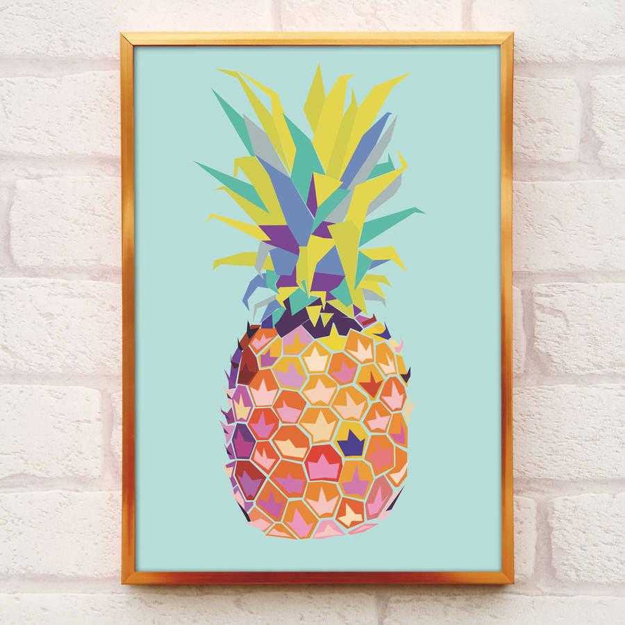 original_tropical pineapple print