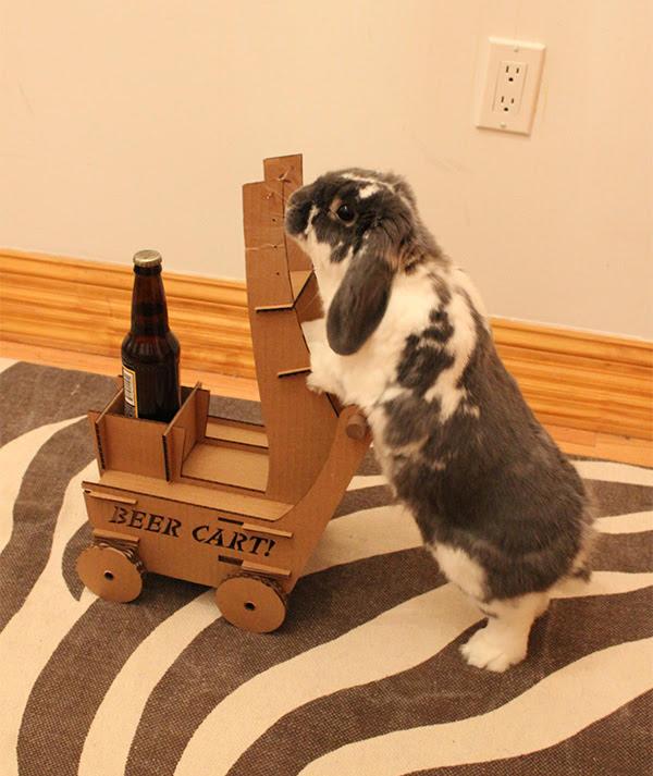 rabbit beer cart