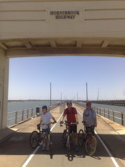 Riding on the Old Hornibrook Bridge