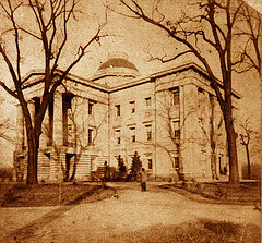 NC State Capitol, 1861, designed by Town and Davis in 1832-34.