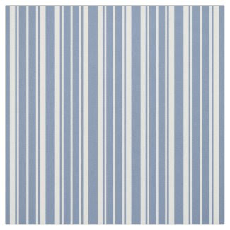 Indigo Blue and White Ticking Striped Fabric