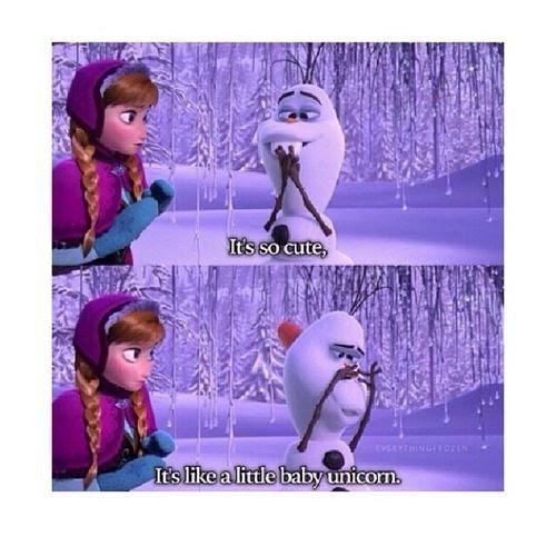 Disney Frozen, Olaf nose, olaf baby unicorn, disney snowman, olaf quote, olaf comic, olaf funny