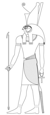 古代エジプトの神ホルス ぬりえ