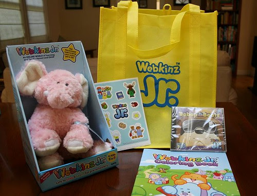 Each child received a Webkinz Jr. goody bag