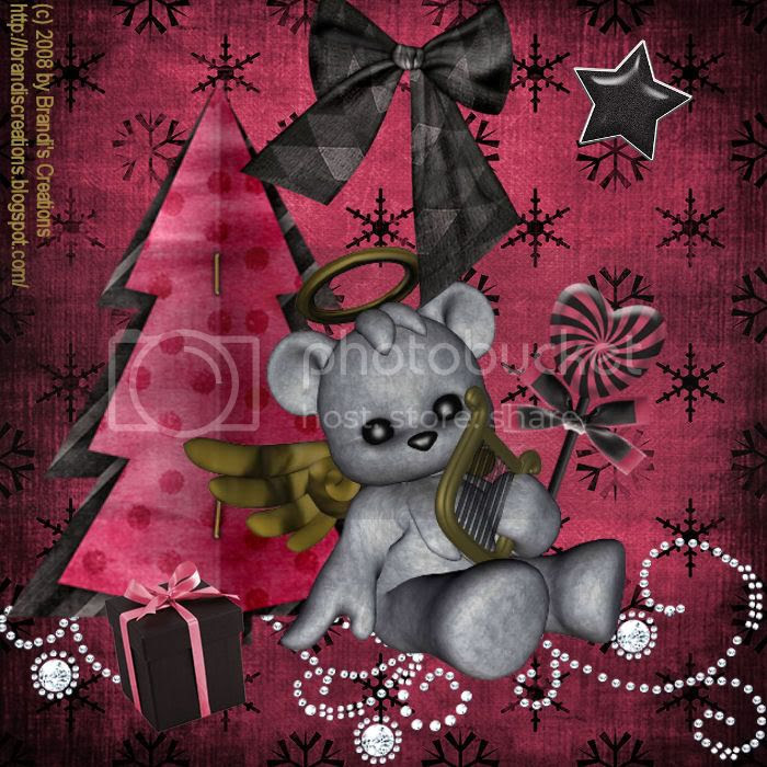 Angels & Devils,Plushies,Teddy Bear,Christmas,Happy Holidays,Holiday Glitter,Kids Tags