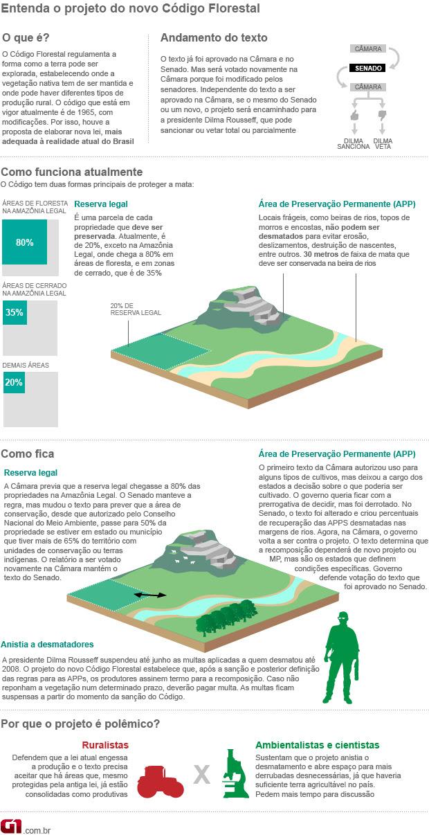 Arte Código Florestal atualizada 24/04/12 (Foto: Editoria de Arte / G1)