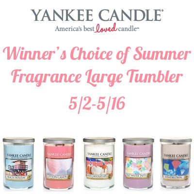 Yankee Candle Summer Collection Giveaway. Ends 5/16