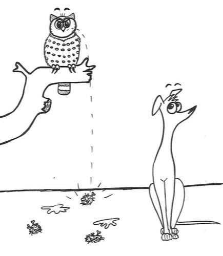 Comic-Whippet-meets-Owl