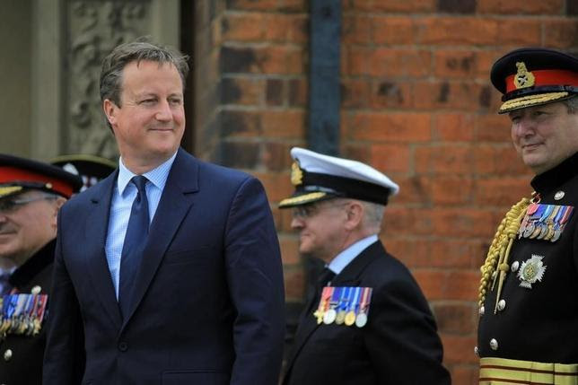 Britain's Prime Minister David Cameron attends an Armed Forces Day National Event (AFDNE) at Cleethorpes in Britain June 25, 2016. Owen Cooban/MOD Crown Copyright/Handout via REUTERS