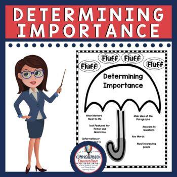 Determining Importance Anchor Chart Handout