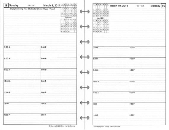 Daily Planner Refill, One Page Per Day, High Quality Paper ...