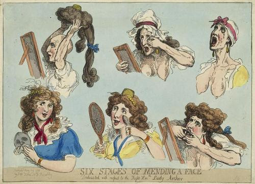 Thomas Rowlandson - Six Stages of Mending a Face, 1792