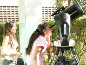 Estudantes do IFCE podem observar manchas solares (Foto: N-Astro/IFCE)