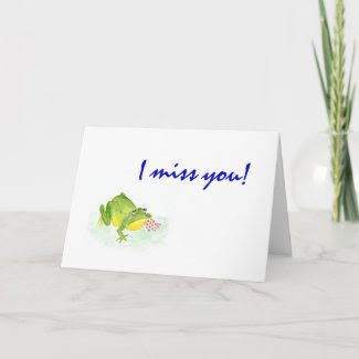 Frog 'I Miss You!' card card