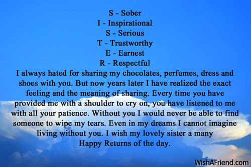 Inspirational Birthday Message For A Sister Kobo Guide
