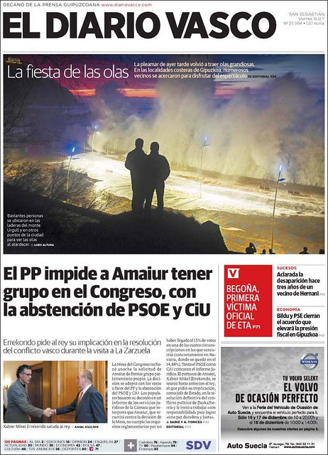 Portada Paseo Nuevo Diario Vasco