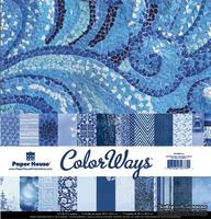 Набор двусторонней скрапбумаги от Paper House - Sapphire Paper Pack, 30,5x30,5 см, 12 шт - ScrapUA.com