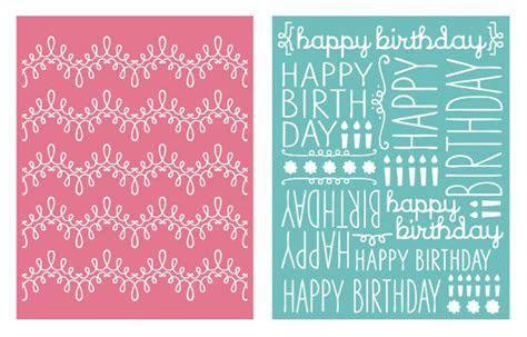 We R Memory Keepers   Embossing Folders   Happy Birthday
