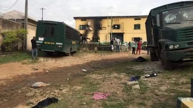 Unknown Armed men burn prison, free 1,844 inmates, bomb Police HQ