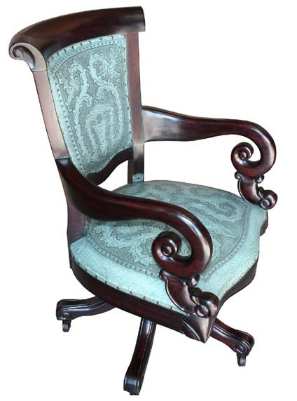 Turquoise Leather Office Chair Western Office Furniture - Free ...
