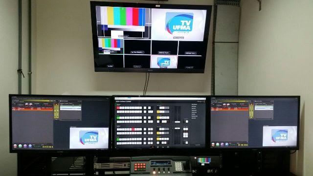 TV UFMA tem padrão excelente de equipamentos em todos os níveis; das ilhas de edição às salas de produção audiovisual