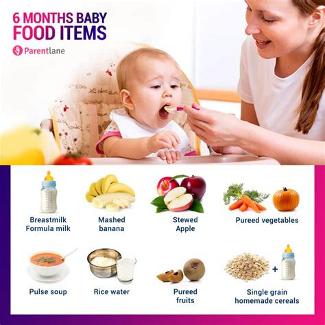 months  baby food chart