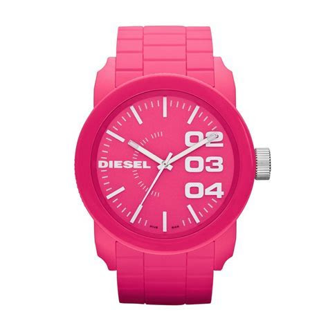 Diesel Diesel Pink Silicone Watch Franchise Collection