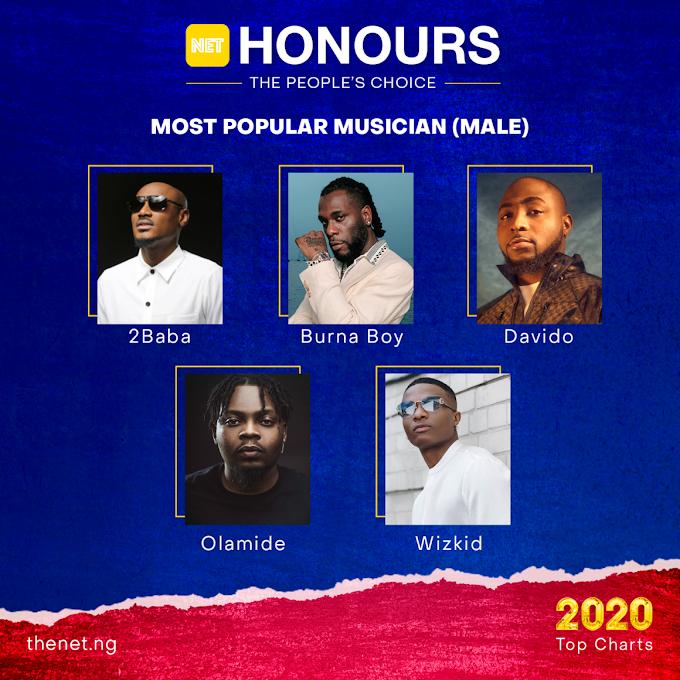 NET Honours 2020: Burna Boy, Davido, Wizkid Nominated For 'Most Popular Male Musician'