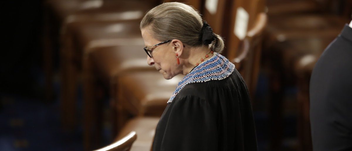 Supreme Court Associate Justice Ruth Bader Ginsburg arrives to watch President Barack Obama's State of the Union address to a joint session of Congress on Capitol Hill in Washington, Jan. 20, 2015. REUTERS/Joshua Roberts