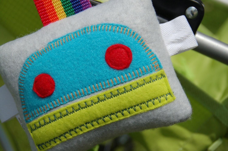 Robot Plushie Mini stroller car seat toy