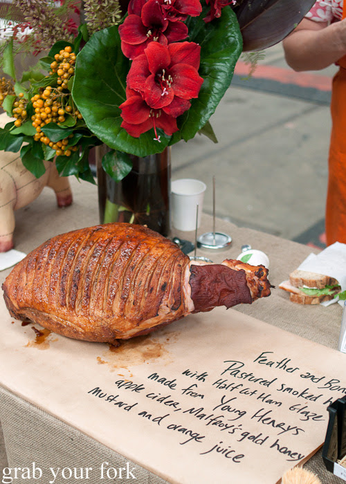 Pastured smoked ham by Feather and Bone at the Sunday Marketplace, Rootstock Sydney 2014
