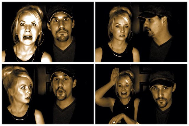Ryan and Kelly in the jukebox photo booth