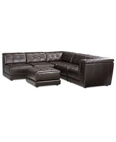"""Milano Leather Sectional Sofa, 2 Piece 117""""W x 82""""D x    Moving on…"""