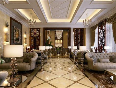 simple european style sales office reception room interior