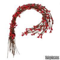 Веточка с красными почками, 40 см, 1шт. - ScrapUA.com