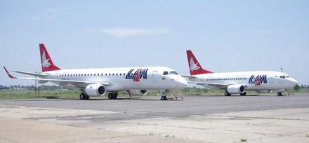 LAM - Linhas Aéreas de Moçambique leased 737-500 and E190