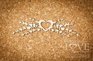 Tekturka - Ornament z sercem i lawendą - Sweet Lavender
