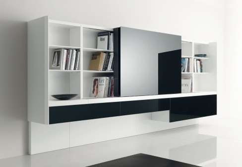 Modern Entertainment Centers - The Acerbis TV Wall Unit is a Smart ...