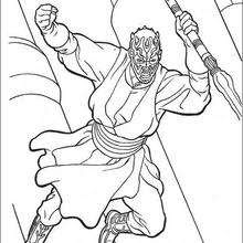 Coloriages Coloriage Star Wars De Dark Maul Frhellokidscom