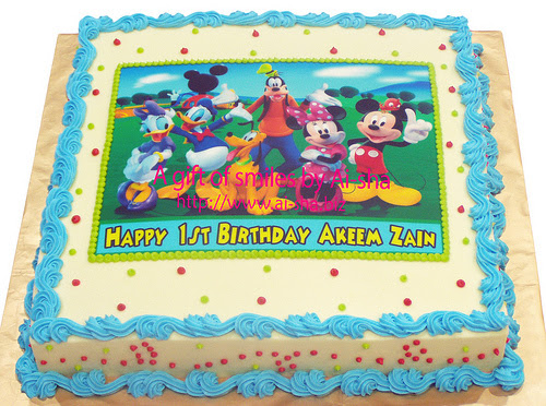 Birthday Cake Edible Image Mickey Mouse ClubHouse Ai-sha Puchong Jaya