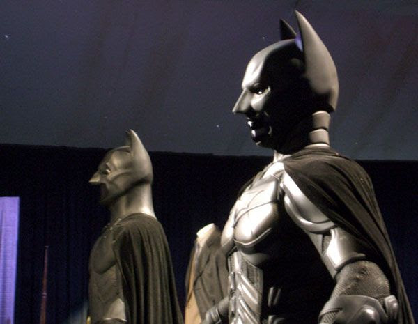 The Batsuits of THE DARK KNIGHT Trilogy, on December 7, 2012.