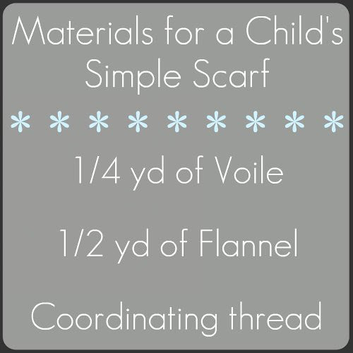 child's scarf materials