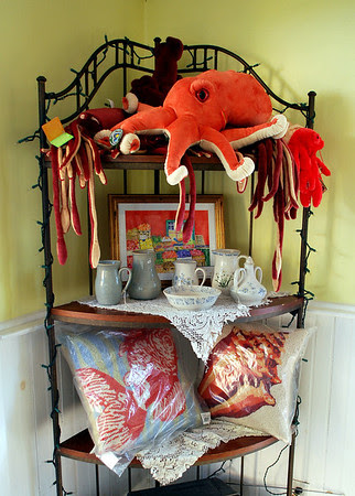 Gifts for sale including a squid of course!